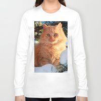 garfield Long Sleeve T-shirts featuring Winter Garfield  by Lucie