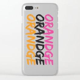 Orandge Clear iPhone Case