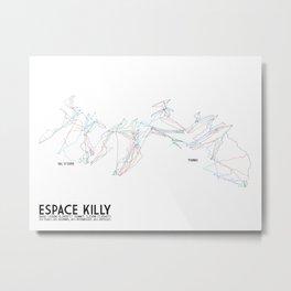 Espace Killy, Savoie, FRA - European Edition (Labeled) - Minimalist Trail Art Metal Print