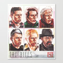 The Biffs - Every Biff, Griff, and Buford from Back to the Future Canvas Print