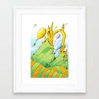 dr seuss Framed Art Prints featuring Dr Seuss by LynxArtCollection
