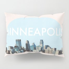 Minneapolis Minnesota Skyline Typography Simple Pillow Sham