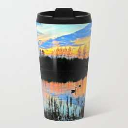 Sunset silhouettes Travel Mug