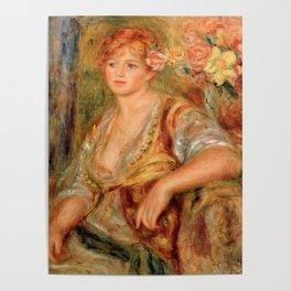 """Auguste Renoir """"Blonde à la rose"""" Poster"""