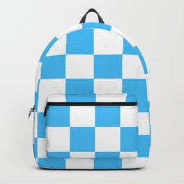 Cheerful Blue Checkerboard Pattern Backpack