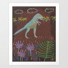 Prehistoric Friend Art Print