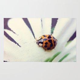 Ladybug On Flower Rug