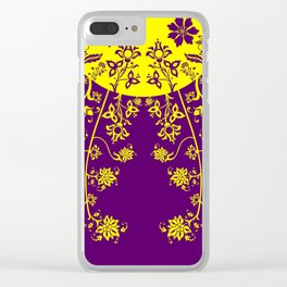 floral ornaments pattern vop30 Clear iPhone Case