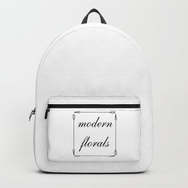 modern florals and arrows . Backpack