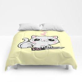 Kitty Hearts Kill - Cats Love Plotting Comforters