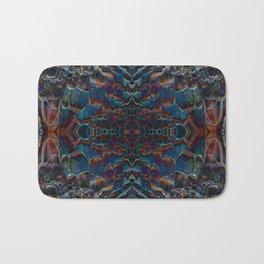 Feather fusion geometry VI Bath Mat