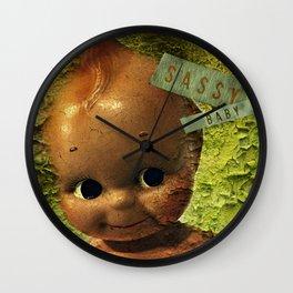 Sassy Baby Decay Wall Clock
