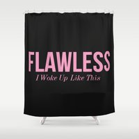 flawless Shower Curtains featuring Flawless by LuxuryLivingNYC