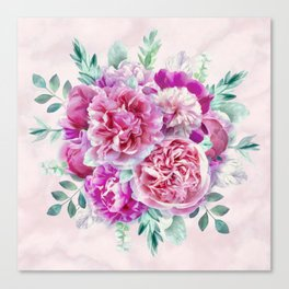 Beautiful soft pink peonies Canvas Print