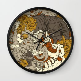 VECTORICAL DANCING Wall Clock