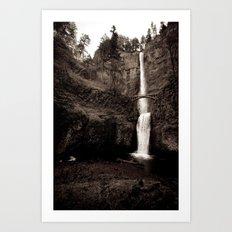 multnomah falls. Art Print