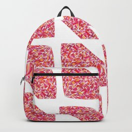 Pink Diamond Pattern Backpack