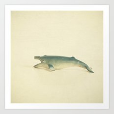 Like a Whale out of Water Art Print
