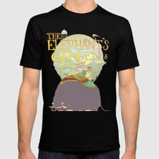 The Elephant's Garden - Version 2 Mens Fitted Tee MEDIUM Black