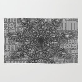 song of sun mandala Rug