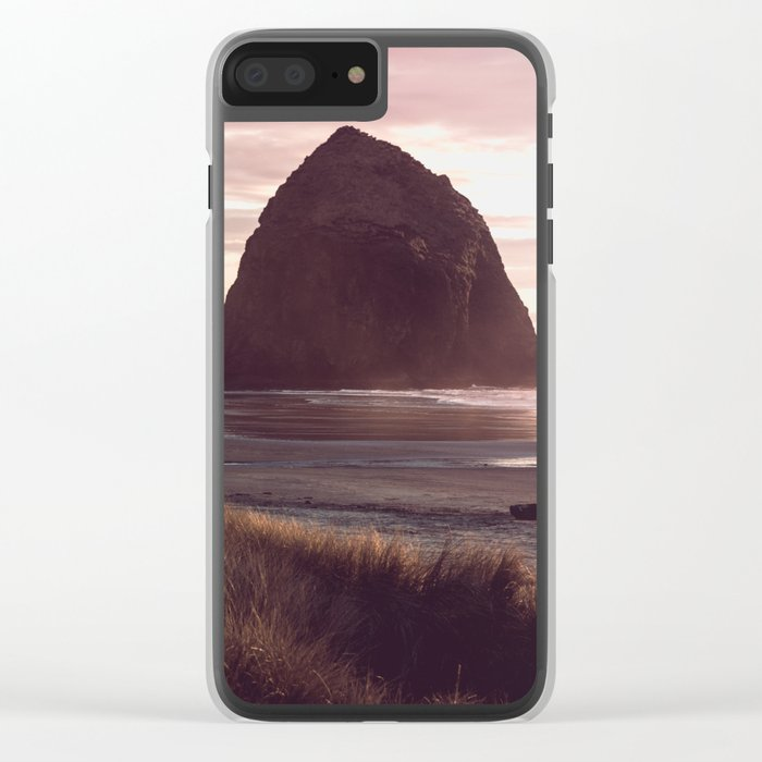 Cannon Beach Sunset Clear iPhone Case