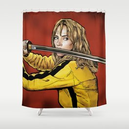 Tarantino Kill Bill -  Kiddo The Bride Shower Curtain