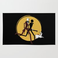 tintin Area & Throw Rugs featuring Jack and zero by le.duc