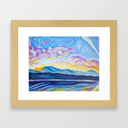 Jetstream and Comox Glacier Framed Art Print