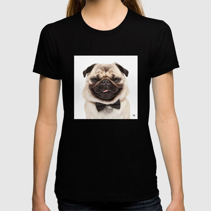 Helmut the Pug - Bow Tie T-shirt