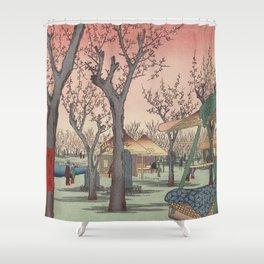 Plum Garden Kamata Ukiyo-e Japanese Art Shower Curtain