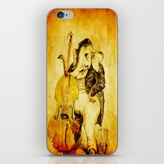 The elephant in the double bass iPhone & iPod Skin