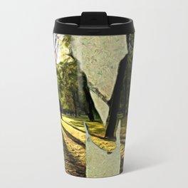 Dreams of sidewalk shadows Metal Travel Mug