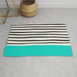 Aqua & Stripes Rug