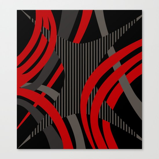 Red Wired Canvas Print