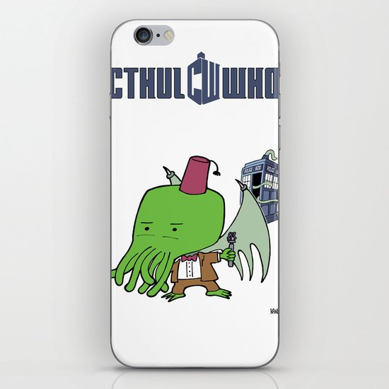 Cthul'Who iPhone & iPod Skin