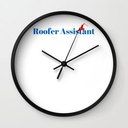 Roofer Assistant Ninja in Action Wall Clock