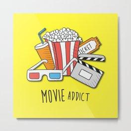Movie Addict Metal Print