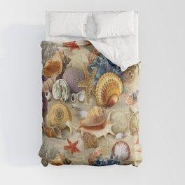 Fancy Seashells And Starfish Comforters