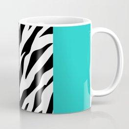 Animal Print, Zebra Stripes, Leopard Spots - Blue Coffee Mug