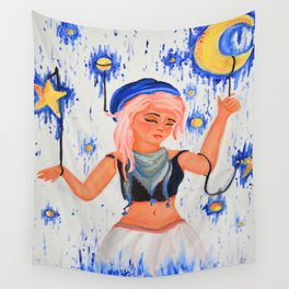 Moon Poppet Wall Tapestry