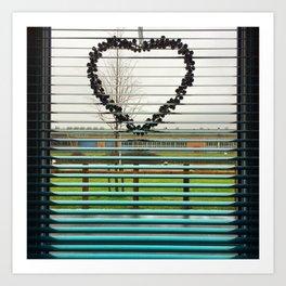 Window Heart Art Print