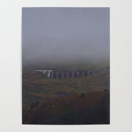 Fog Over The Stwlan Dam Poster