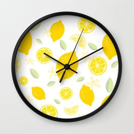 Lemon Blossom Wall Clock