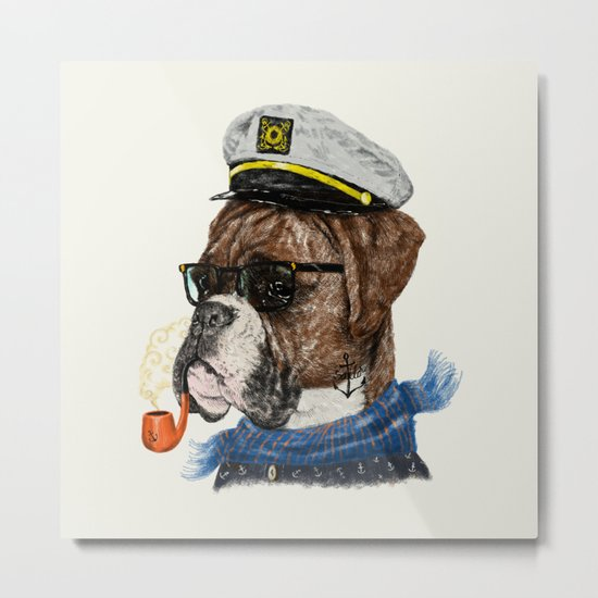 Mr.Boxer II Metal Print
