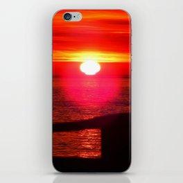 Sun Melts into the Sea iPhone Skin