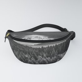 Mt Hood Black and White Mountain Fanny Pack