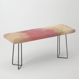 Modern Contemporary Ultra Violet Glow Abstract Bench