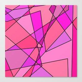 Pink Modern Art Canvas Print