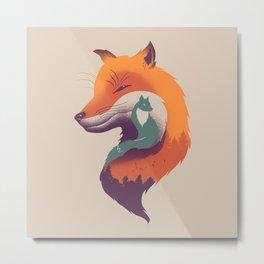 Foxy Breeze Metal Print