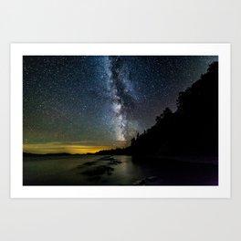 Moosehead Lake Milky Way Art Print